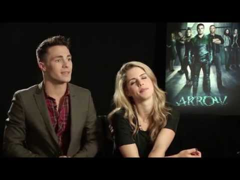 Sugapuff Meets The Cast of Arrow  Colton Haynes & Emily Bett Rickards