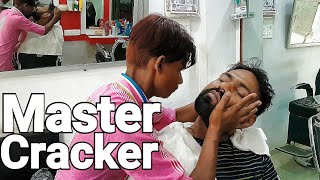 Asmr master cracker head massage with neck cracking (Travel series 4)