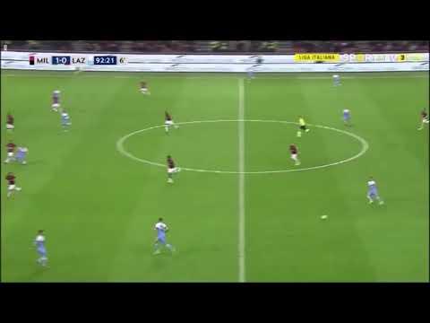 Moviola Milan-Lazio: Il Fallo su Musacchio non visto da nessuno.
