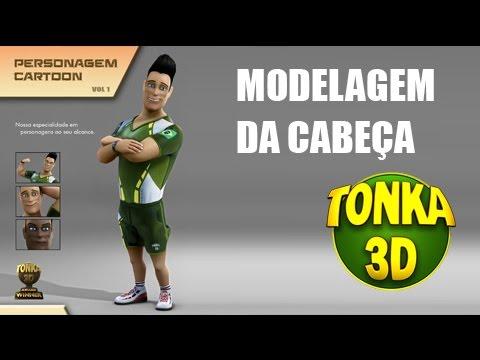Tutorial modelagem cabe a 3d curso personagem cartoon for Modelar habitacion 3d max