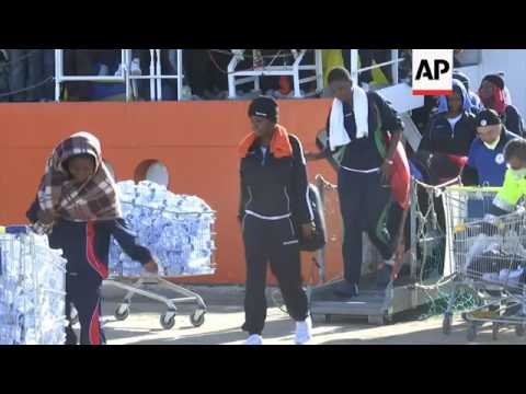 More Than 780 Rescued Migrants Arrive in...