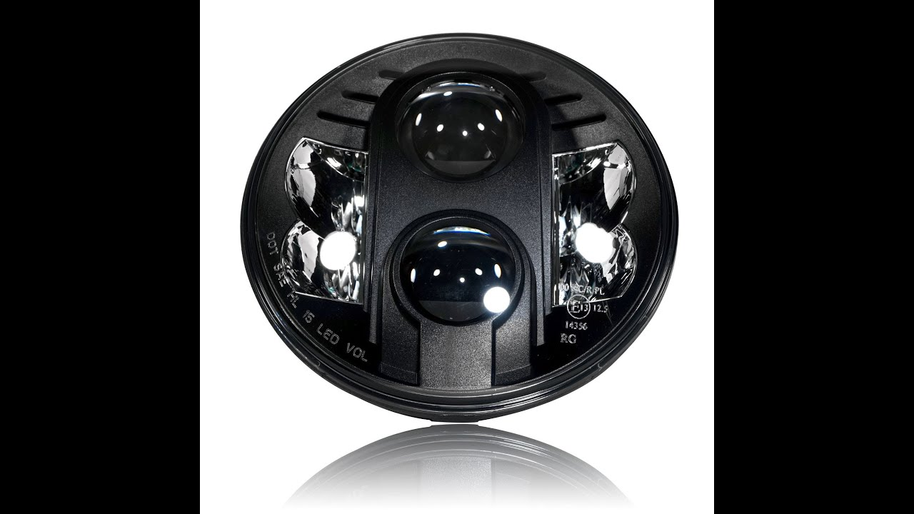 Genssi 7 Inch Projector Led Headlight Dot Road Legal Youtube