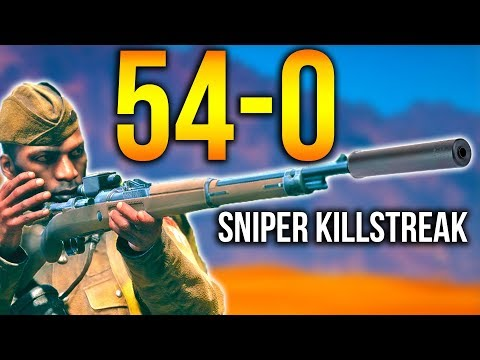 BATTLEFIELD 1 *NEW* SILENT SNIPER 54-0 FLAWLESS GAME BF1 Enfield M1917 Suppressed Gameplay