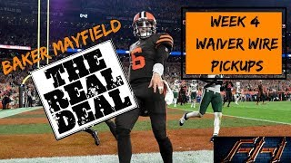 2018 Fantasy Football Advice  - Week 4 Top Waiver Wire Targets