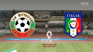 ... bulgaria face the italians as they look to avoid embarrassment!liv...