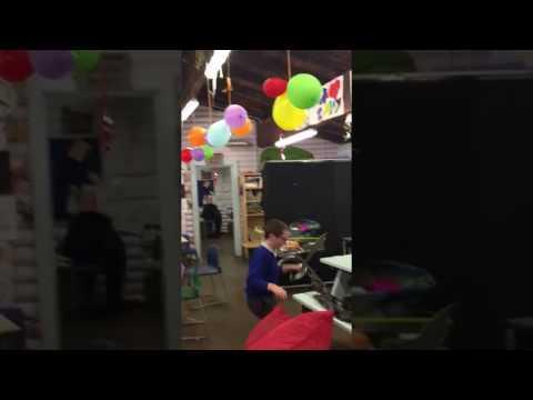 Balloon popping at Lumpy Hill