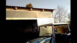 видео Ангар из профнастила своими руками