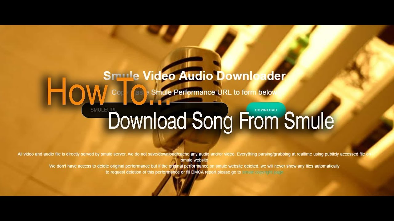 How To Download Song From Smule