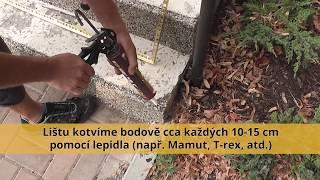 Jak usazovat lišty ke kamennému koberci