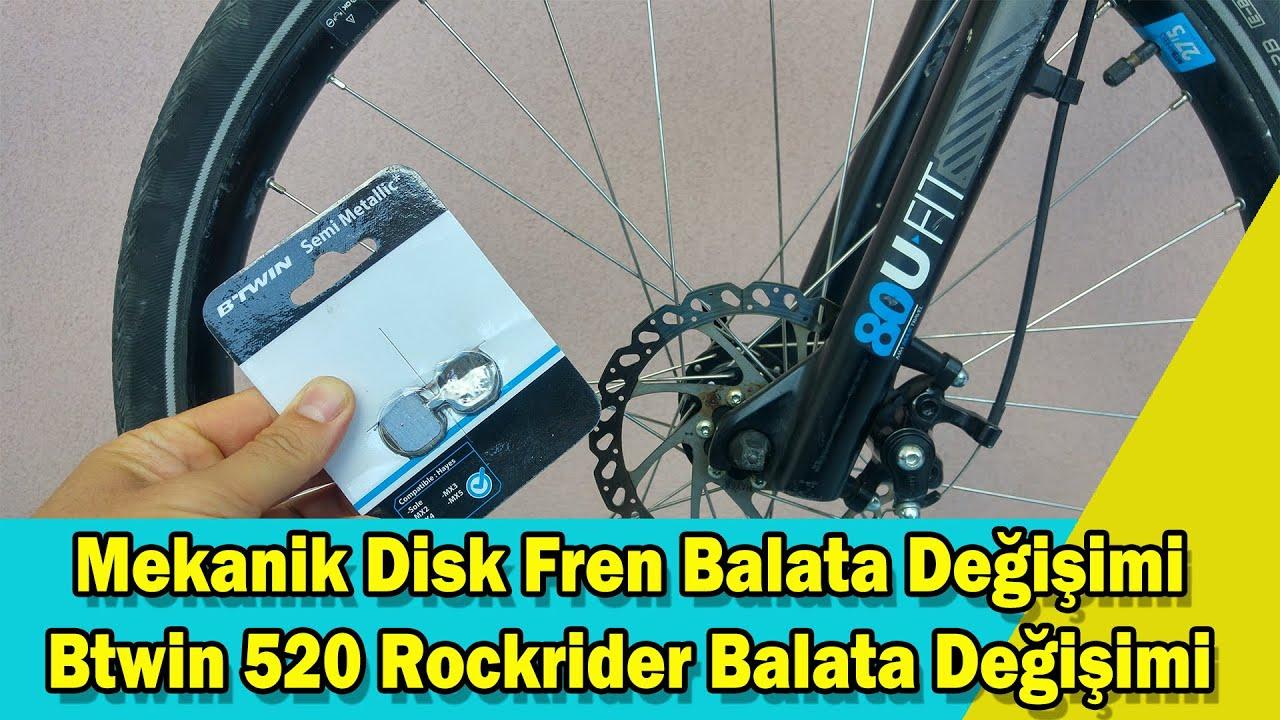 Btwin 520 Rockrider Balata Değişimi-Mekanik Disk Fren Balata Değişimi
