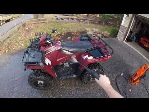 how to clean a muddy ATV