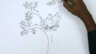 How to Draw a Bird and The Nest