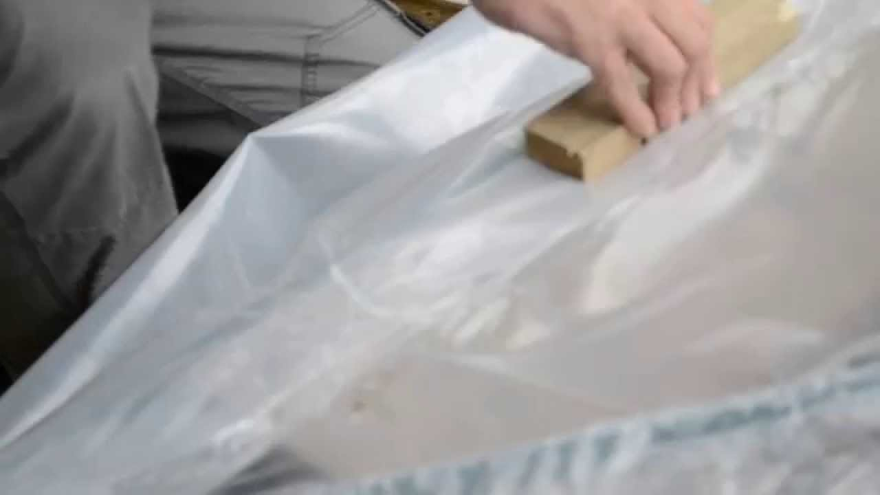 How To Join Two Polythene Sheets With Heat Gun Youtube