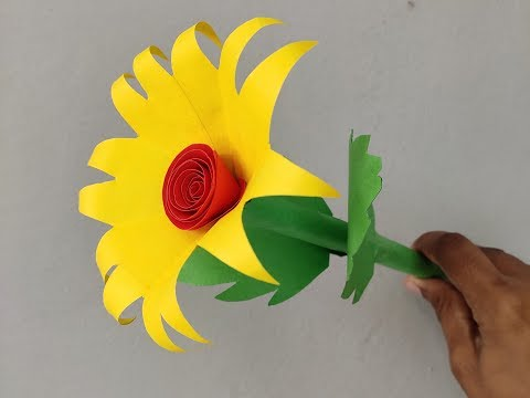 ART AND CRAFT, How to make easy flower with paper, DIY PAPER FLOWER | ORIGAMI FLOWERS |