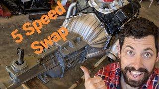 Заміна 5-ступінчастою механічною позаду першого покоління маленький блок Chevy