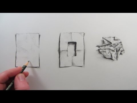 how to draw a piece of crumpled paper narrated visual