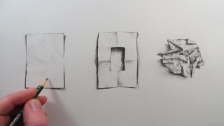 How to Draw a Piece of Crumpled Paper: Narrated visual illusion