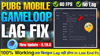 🔧PUBG MOBILE LAG FIX GAMELOOP || BEST SETTING FOR 60 FPS || NEW UPDATE LAG FIX VIDEO IN HINDI