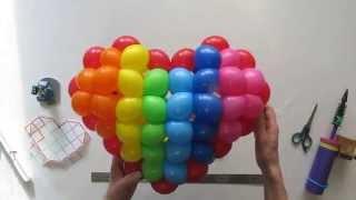 Сердце плетеное из воздушных шаров / 3D woven heart of balloon twisting(, 2014-02-09T12:31:55.000Z)