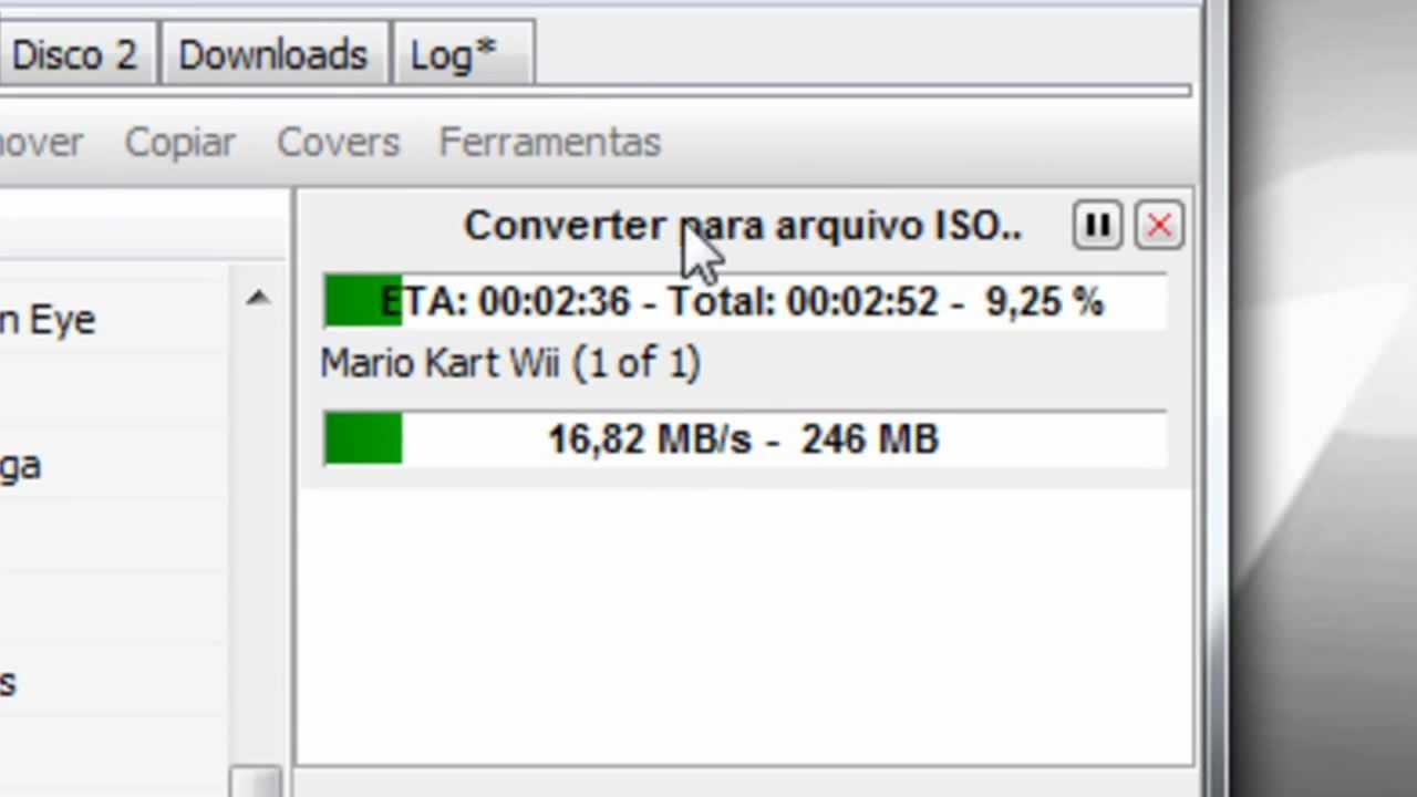 Como converter jogos .WBFS para .ISO com o Wii Backup