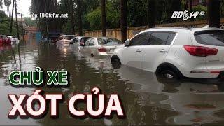 (VTC14)_Hàng trăm chủ xe xót của vì ô tô ngâm nước sau mưa