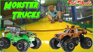 Throwback Thursday Monster Jam Toy Trucks Grave Digger and Scooby Doo at Going Bonkers
