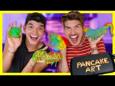 PANCAKE ART CHALLENGE! W/Alex Wassabi