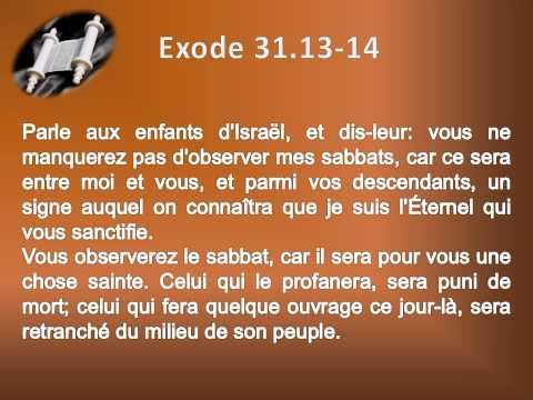 02 Le livre de l'Exode Chap 31 Texte déroulant et l'audio  vidéo évangile Bible La Parole de Dieu