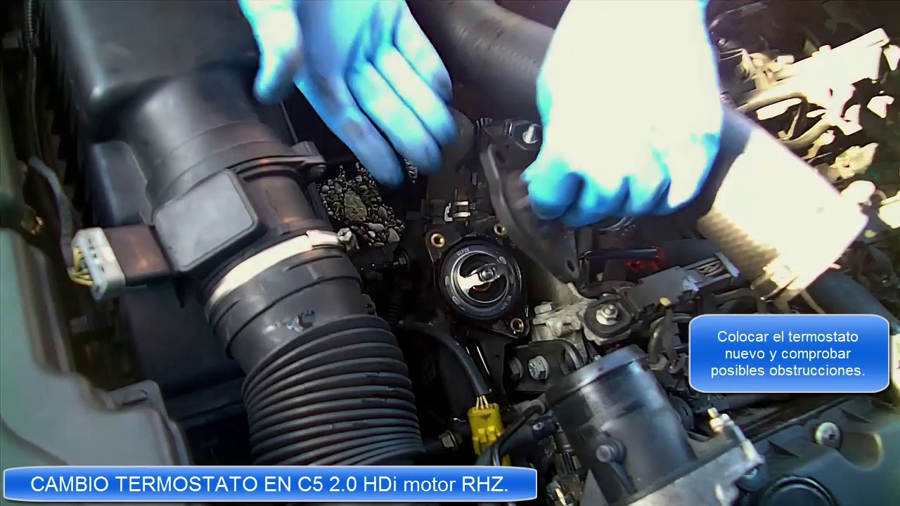 Video brico cambio termostato citroen 2 0 hdi motor rhz for Cambiar un water