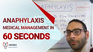 Anaphylaxis Medical Management in 60 seconds... #aroraBites