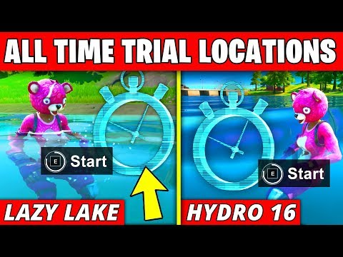Complete The Swimming Time Trials At Lazy Lake And East Of Hydro 16 - Fortnite