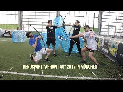 """Exklusives Presse-Event zum Trendsport """"Arrow Tag"""" 2017 in München"""