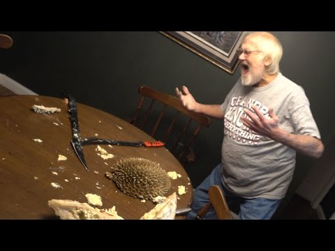 DURIAN FRUIT vs ANGRY GRANDPA!!