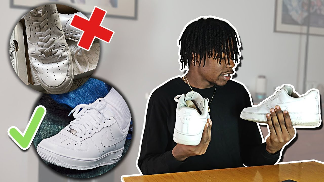 COMMENT ENLEVER LES PLIS DE SES PAIRES ? ???? ( How To Get Creases Out Of Air Force 1's) - AKA LENNY
