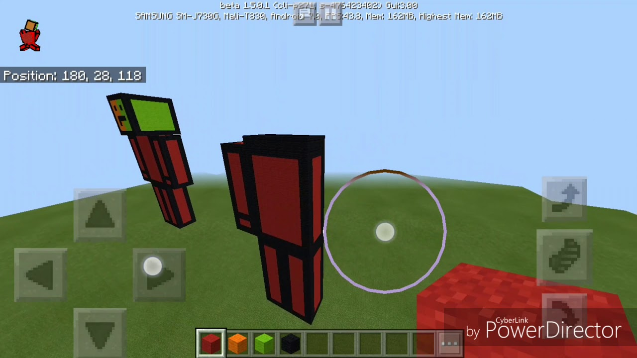 build tapl skin in minecraft pe