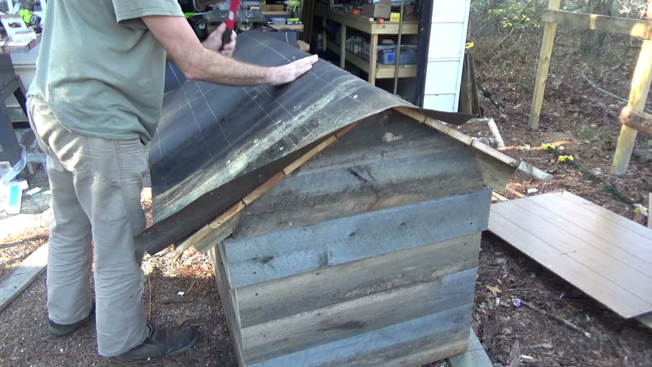 Insulating The Dog House And Installing Paneling And Roofing