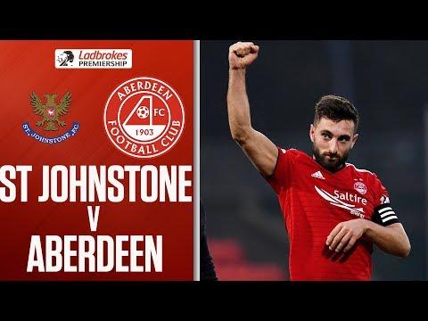 St. Johnstone 0-2 Aberdeen | Shinnie double extend hosts' winless run | Ladbrokes Premiership