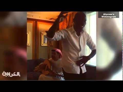 النجم الأمريكي تايريس يرقص مع أيقونة الإمارات ميحد حمد