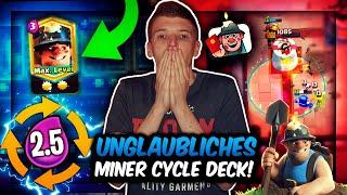 DIESES 2.5 MINER CYCLE DECK IST UNFASSBAR STARK!   Schnellstes Meta Deck?!   Clash Royale Deutsch