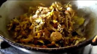 Mochar Ghonto - Banana Flower Curry making - with Full Step of Cutting  and Cleaning.