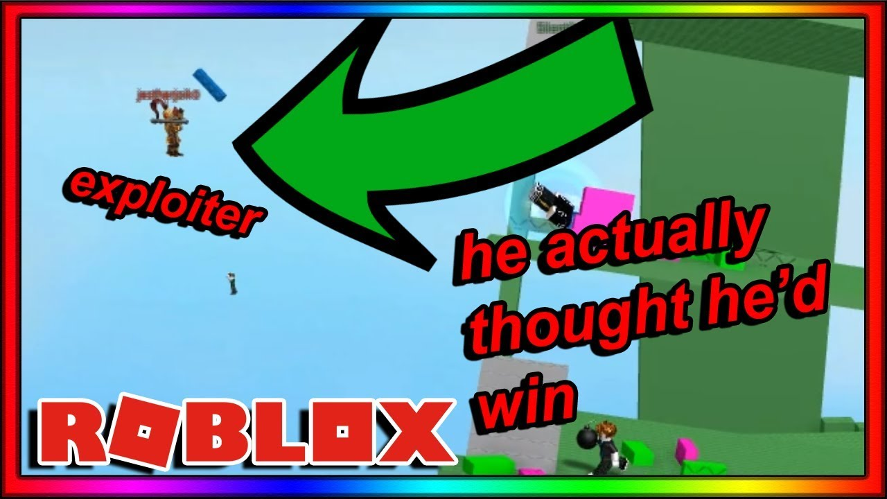 this EXPLOITER REALLY THOUGHT he could beat me at DOOMSPIRE  BRICKBATTLE   (roblox)