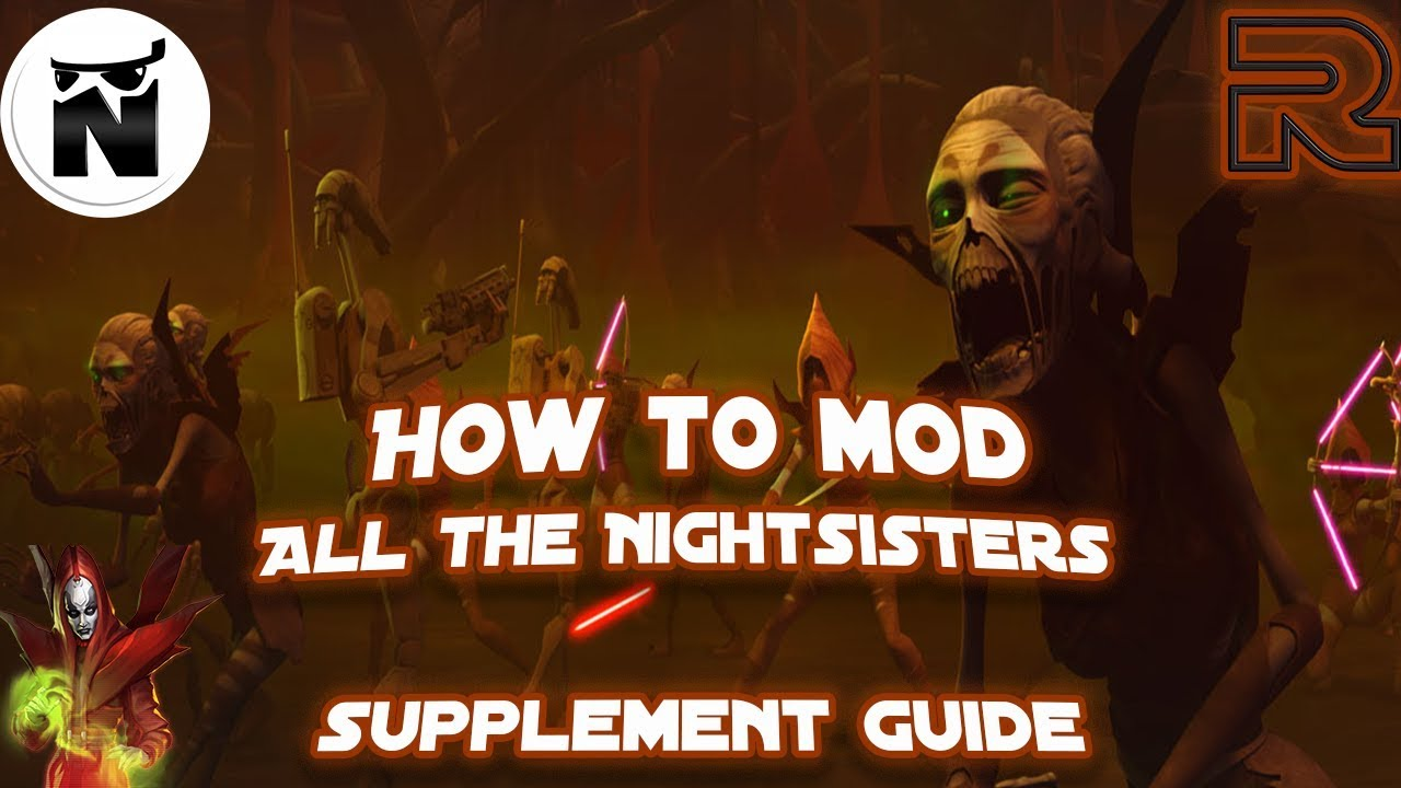 How to Mod Nightsisters! | Sith Raid Focused Supplement | Star Wars: Galaxy  of Heroes