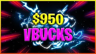 $950 WORTH OF VBUCKS??? FREE VBUCKS GIVEAWAY OR...? | Fortnite