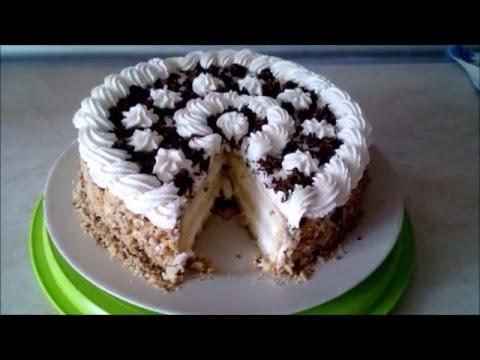 Нежный торт со сметанным кремом.Украшение тортов кремом.