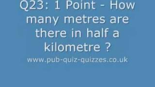 Free Pub Quiz Questions - Quiz Night Questions