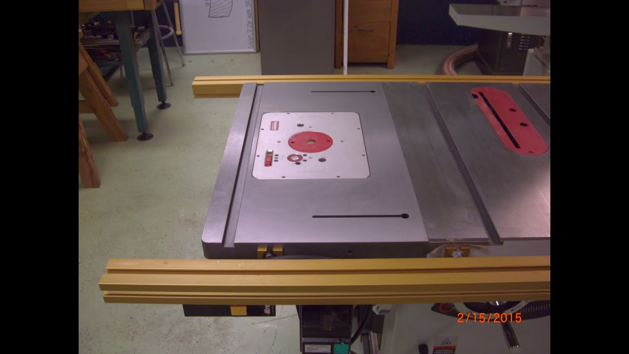 Router Extension Wing For Table Saw