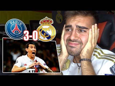 HINCHA del REAL MADRID reacciona al PSG 3-0 REAL MADRID Fase de Grupos UEFA Champions League 2019