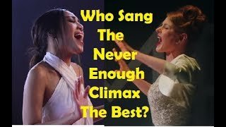 """Download Who Sang The """"Never Enough"""" Climax The Best? Mp3 and Videos"""