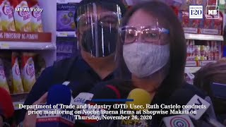 DTI Usec. Ruth Castelo conducts price monitoring on Noche Buena items