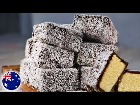 How to Make Lamingtons | MOST FAMOUS AUSTRALIAN RECIPE